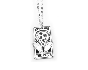 The Pizza Tarot Card Necklace