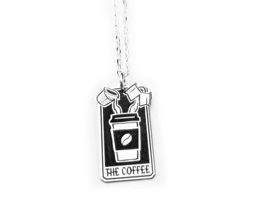The Coffee Tarot Card Necklace