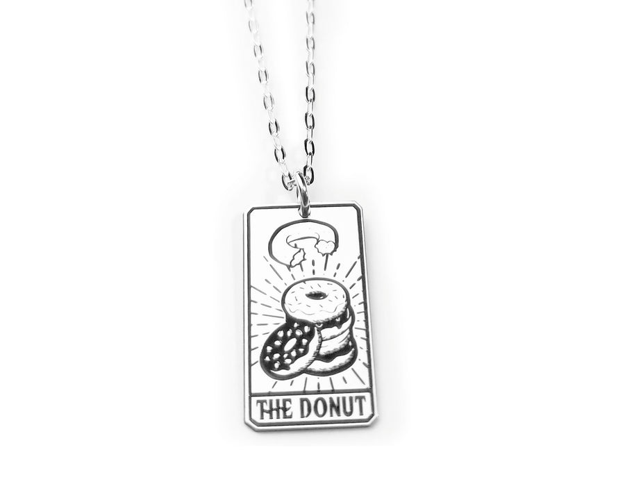 The Donut Tarot Card Necklace