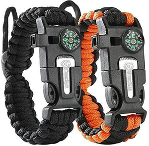 2 Pack Outdoor Emergency Survival Bracelet (Buy 1 get 1 free