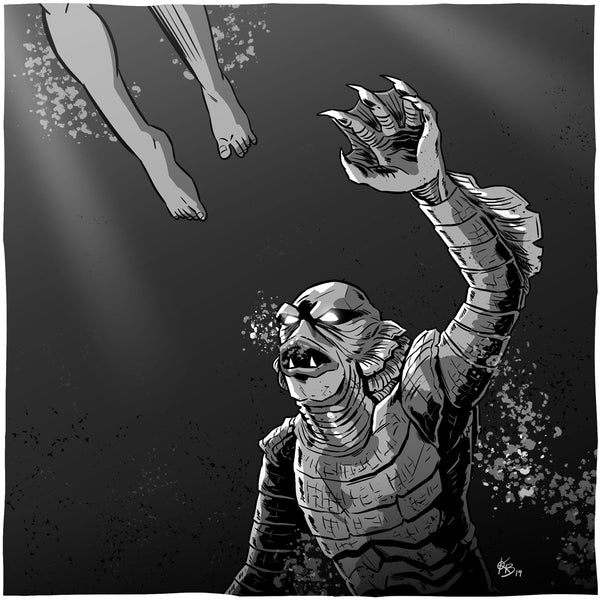 Creature from the Black Lagoon - 8x8 Print