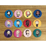 Set of 12 Carmilla POGS