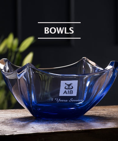 Galway Crystal Bowls Engraved