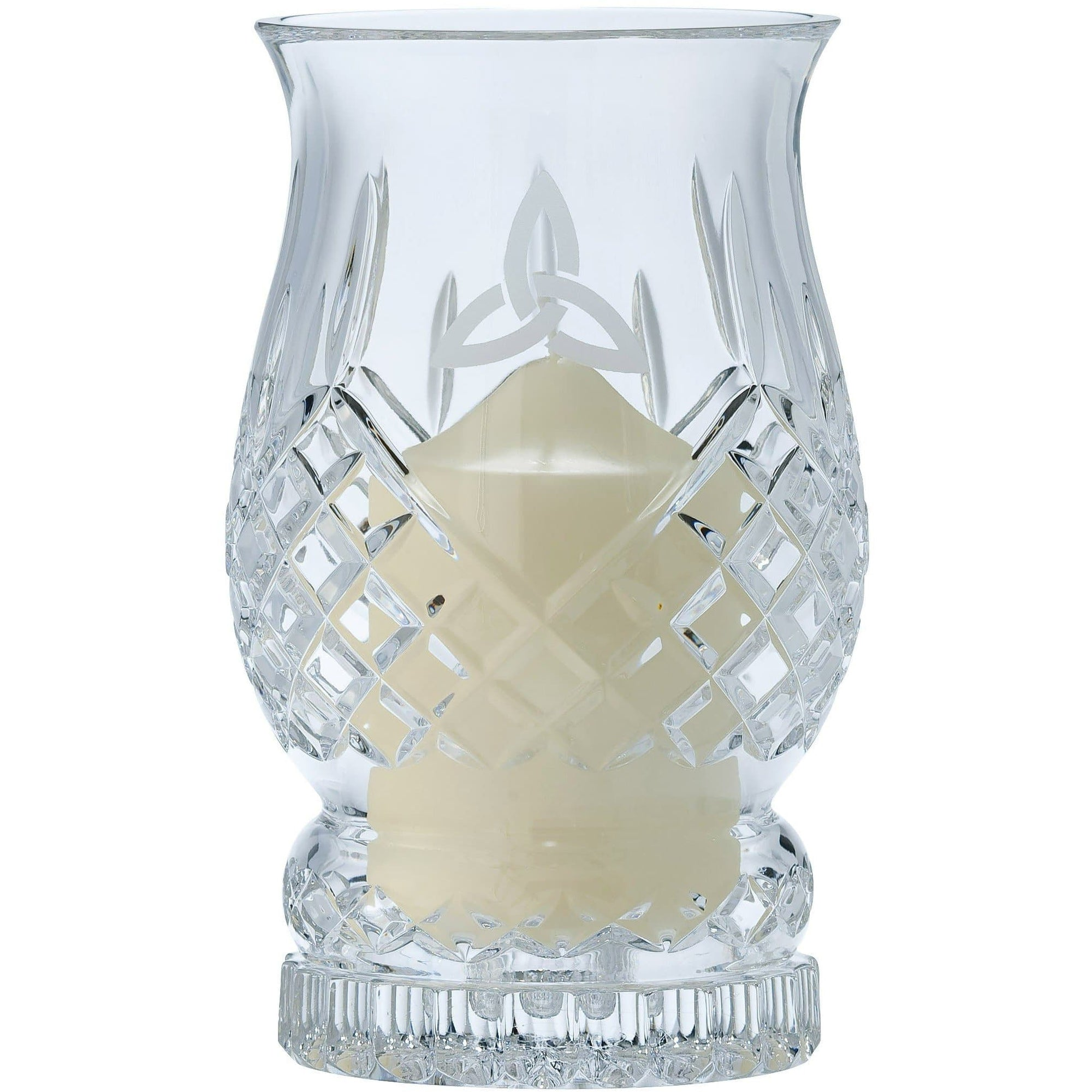Trinity Knot Hurricane Lamp - Galway Irish Crystal