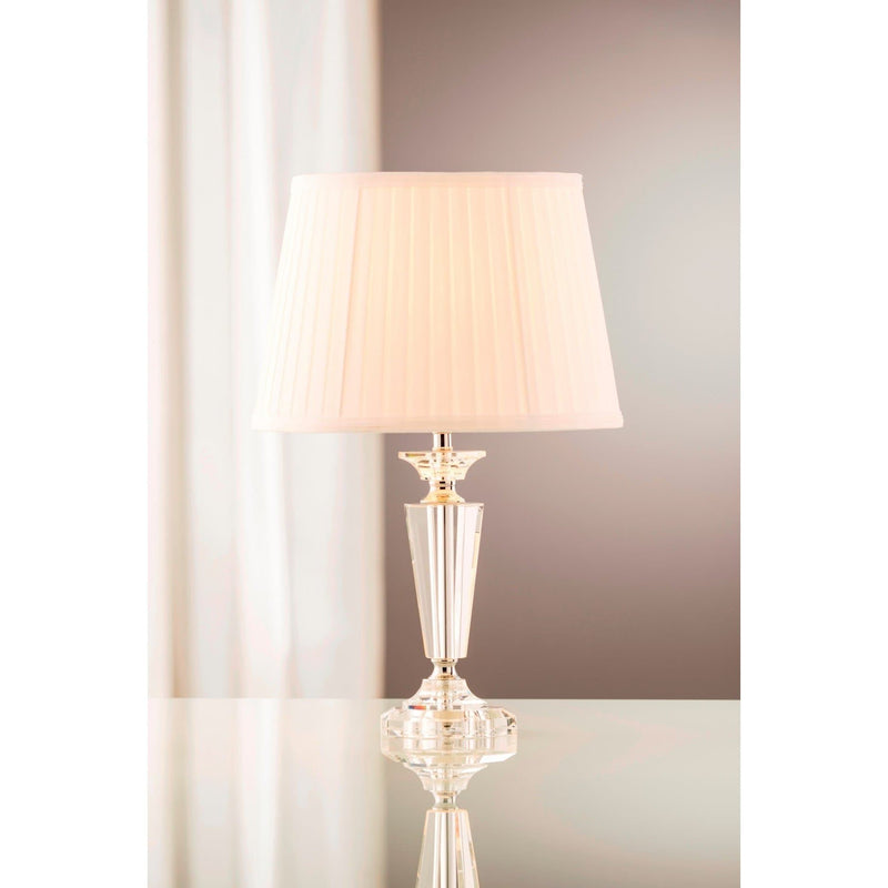 Sofia Lamp & Shade (US Fitting) - Galway Irish Crystal