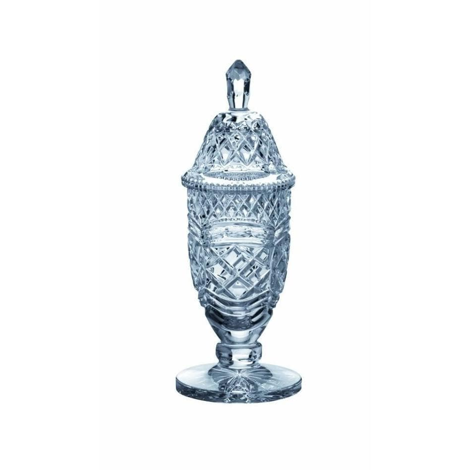 "13"" Footed Sports Trophy & Lid Engraved - Galway Irish Crystal"
