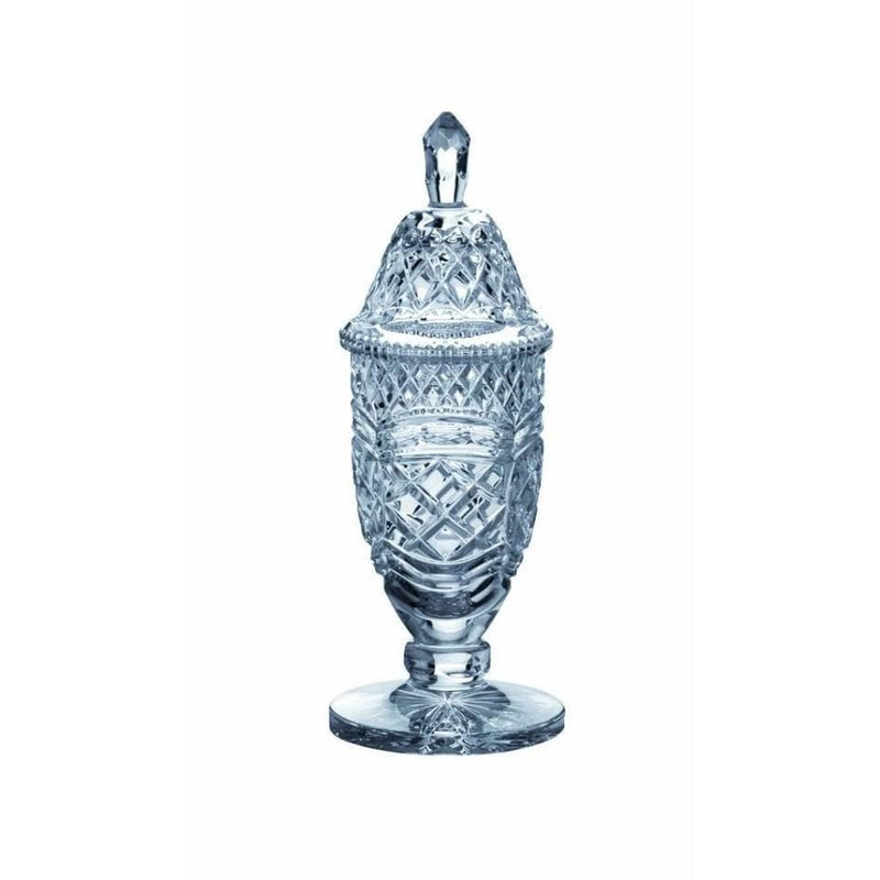 "13"" Footed Sports Trophy & Lid Engraved"