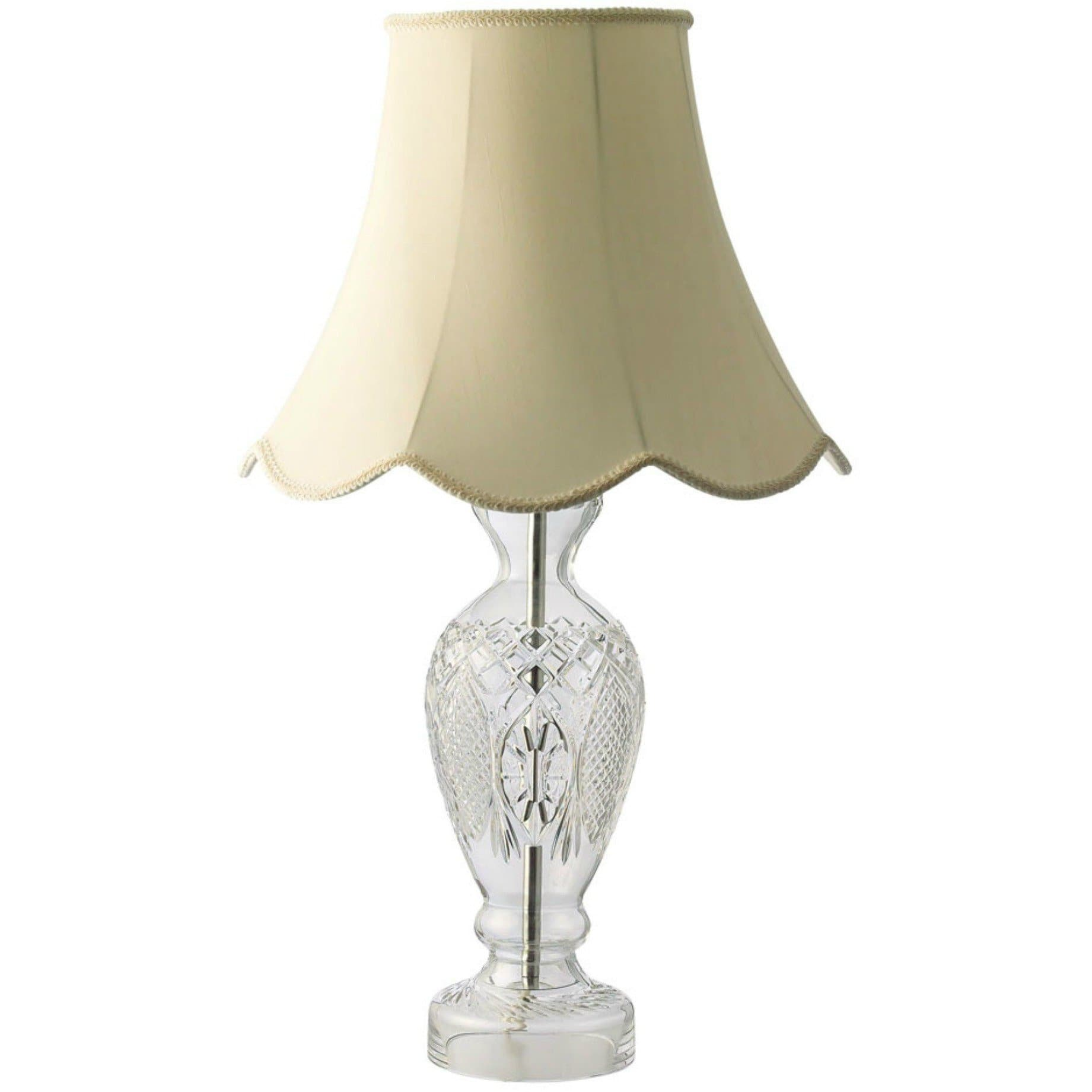 "Corrib 15"" Lamp & Shade IRL/UK Fittings - Galway Irish Crystal"