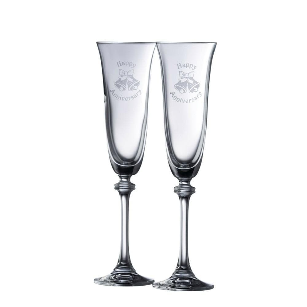 Happy Anniversary Liberty Flute Pair - Galway Irish Crystal