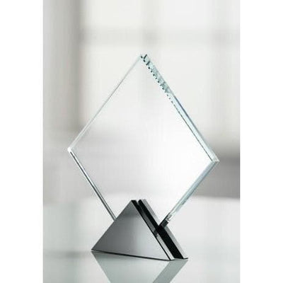 "Deco 8"" Diamond Award Engraved - Galway Irish Crystal"
