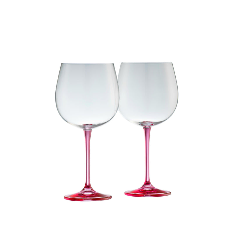 Gin & Tonic Pair - Pink - Galway Irish Crystal