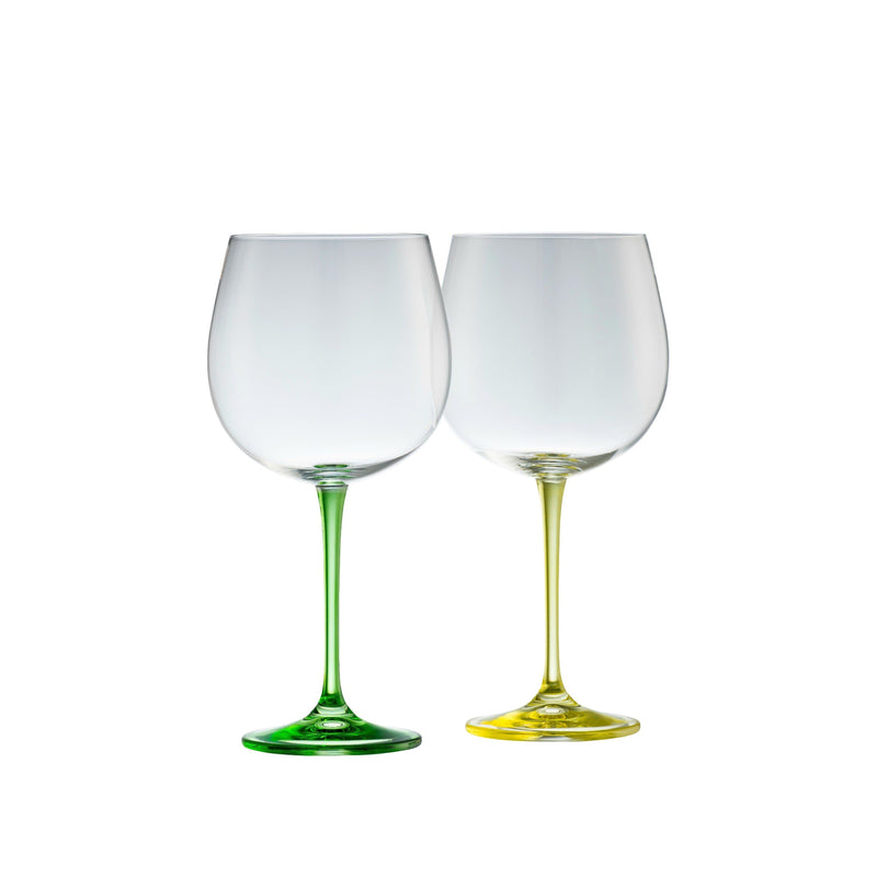 Gin & Tonic Glasses - Lemon & Lime