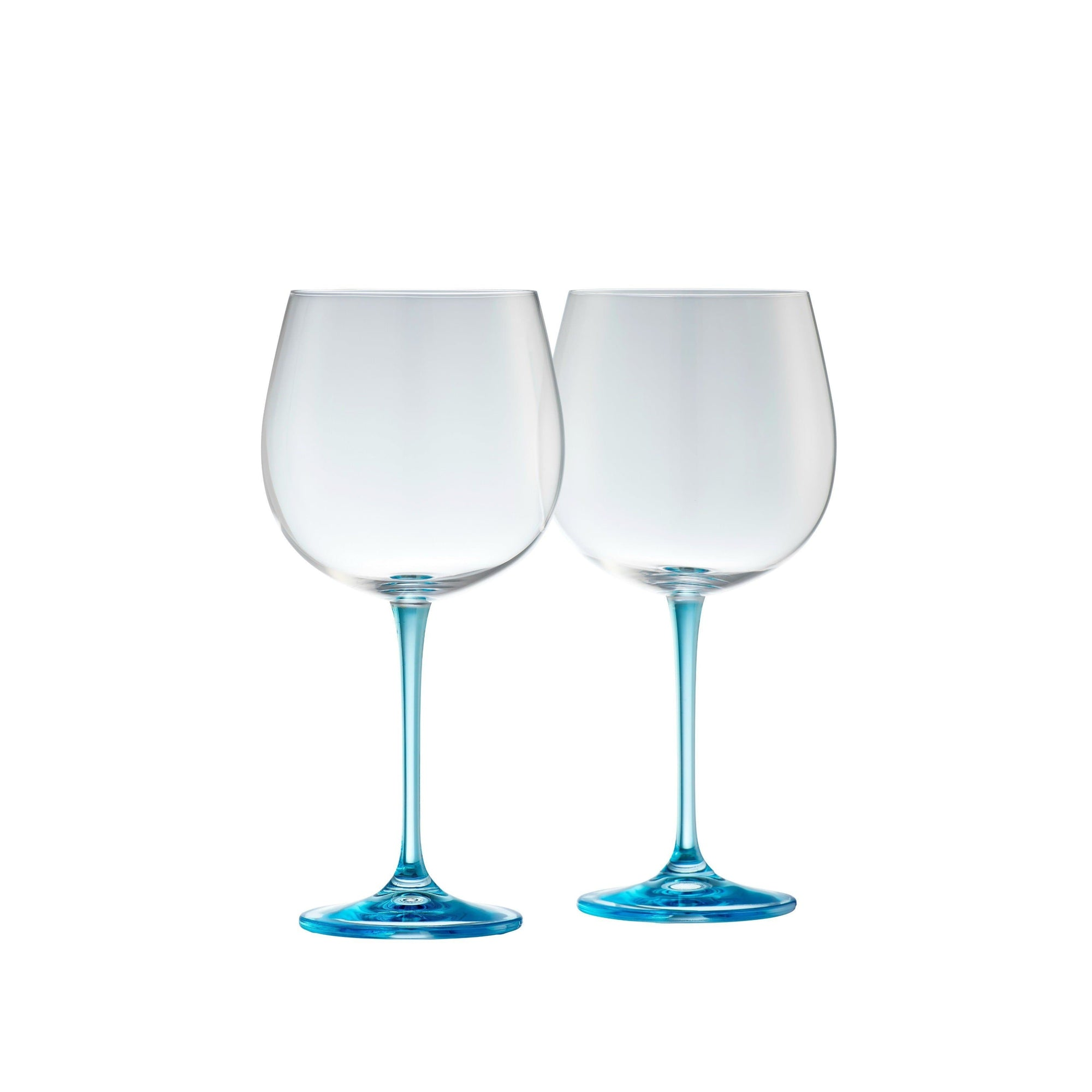 Engraved Gin & Tonic Glass Pair - Blue
