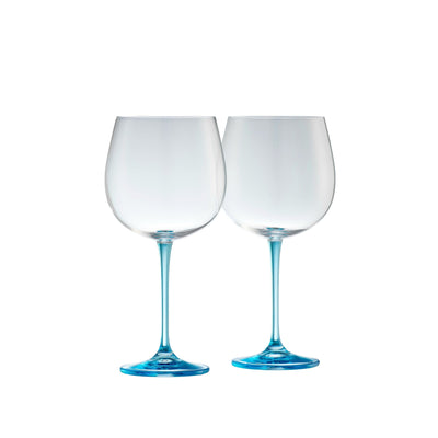 Engraved Gin & Tonic (Pair) - Blue (G600143E)