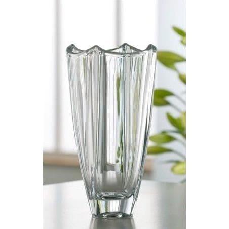 "Engraved Dune 10"" Square Vase - Galway Irish Crystal"