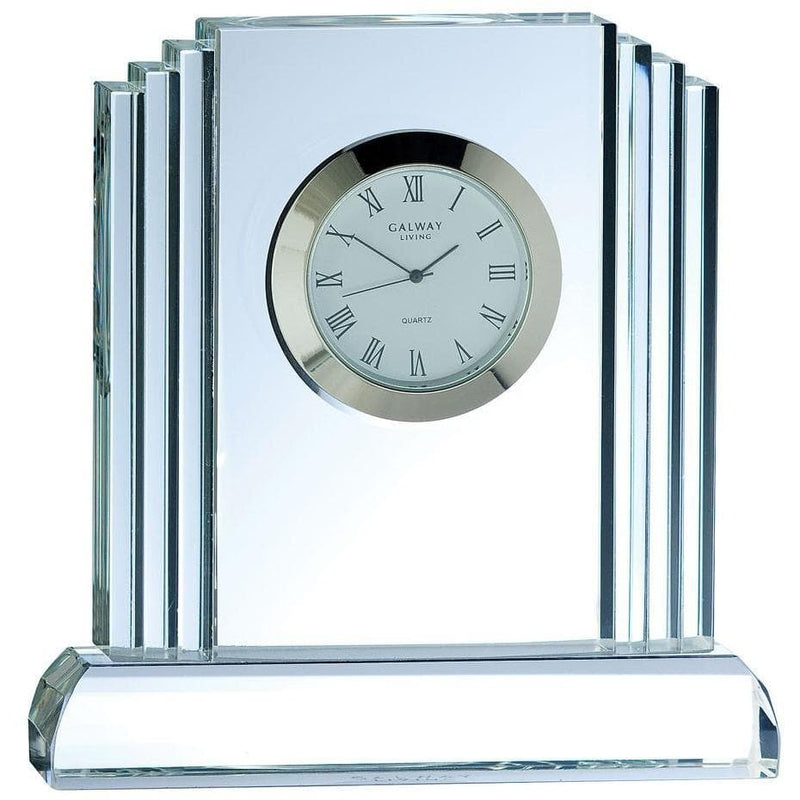 *Sold Out* Jazz Medium Clock Engraved (JZ51E) - Galway Irish Crystal