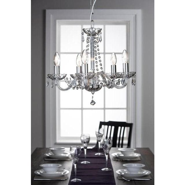 Cashel 5 Arm Chandelier (GCH05) - Galway Irish Crystal
