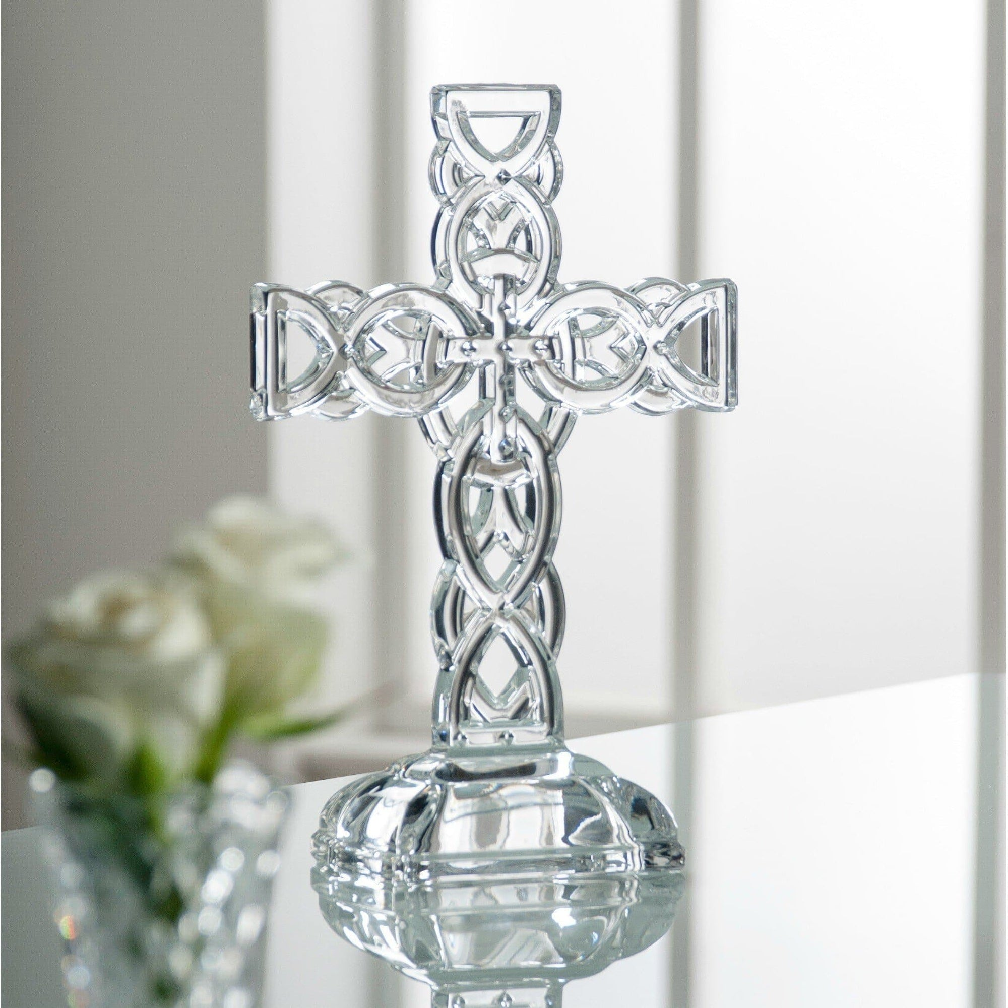 Celtic Cross Engraved (G34002E) - Galway Irish Crystal