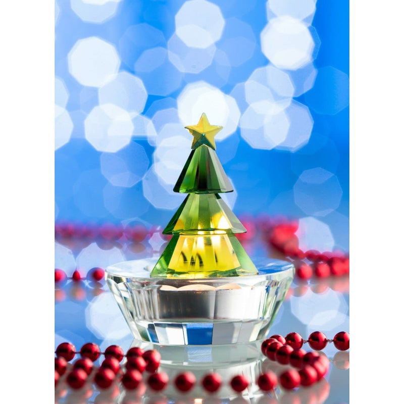 Magical Christmas Tree Votive Green