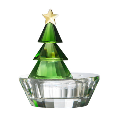 Magical Christmas Tree Votive Green - Galway Irish Crystal