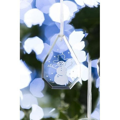 Droplet Snowman Hanging Ornament - Galway Irish Crystal
