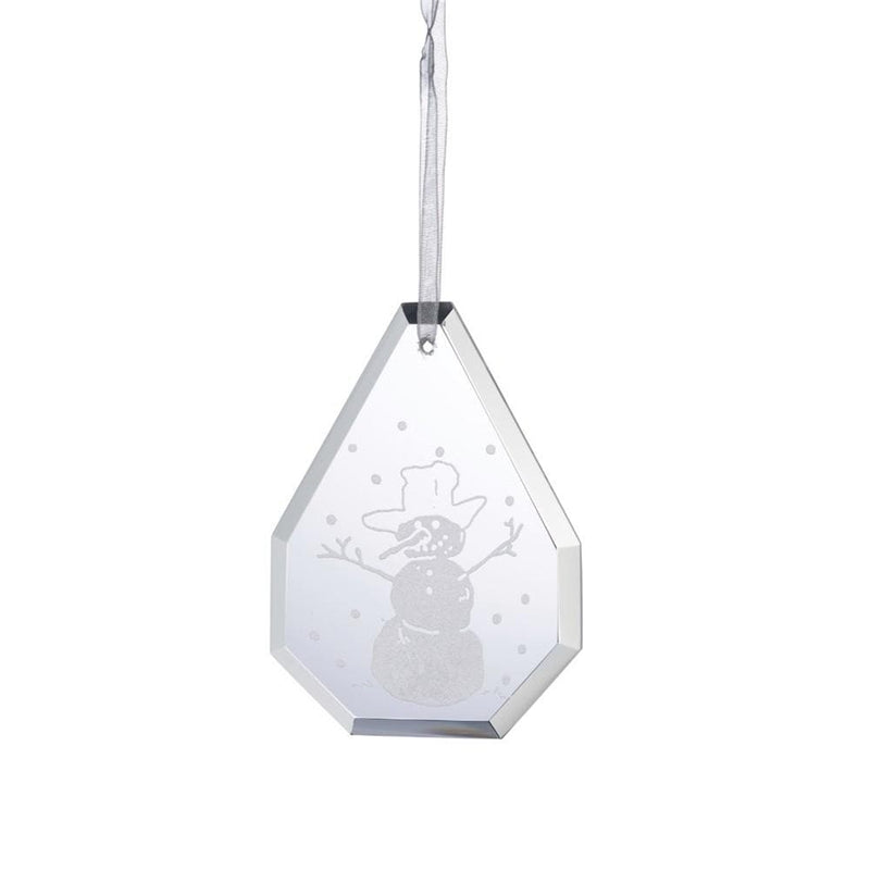 Droplet Snowman Hanging Ornament GDH02 - Galway Irish Crystal