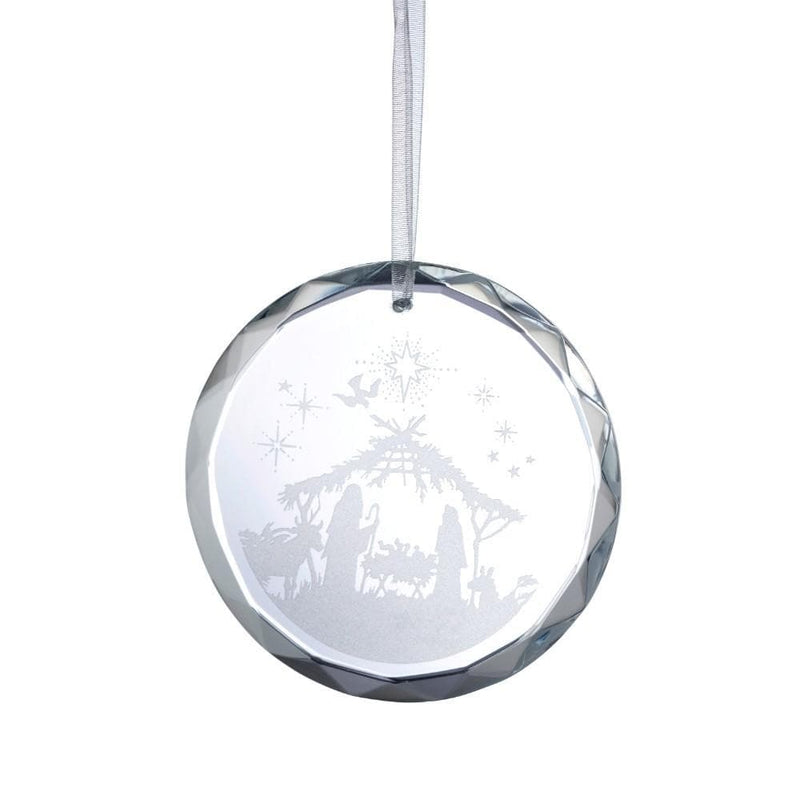 Nativity Scene Hanging Ornament GRH03 - Galway Irish Crystal