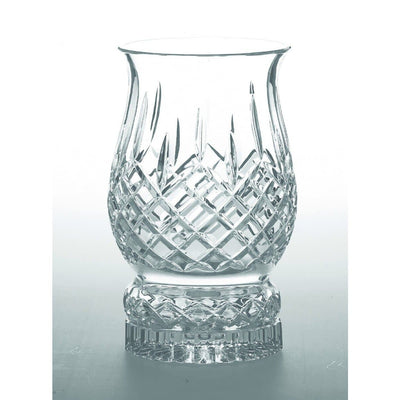 Longford Pillar Hurricane Candleholder Engraved - Galway Irish Crystal