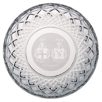 "8"" Plate Engraved - Galway Irish Crystal"