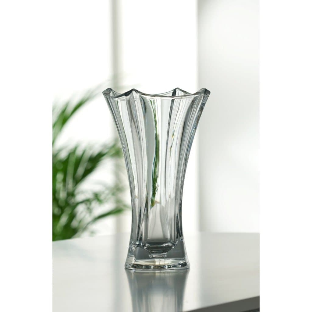 "Dune 12"" Waisted Vase Engraved - Galway Irish Crystal"