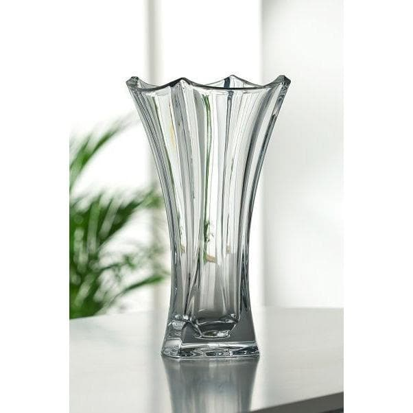 "Dune 14"" Waisted Vase Engraved - Galway Irish Crystal"