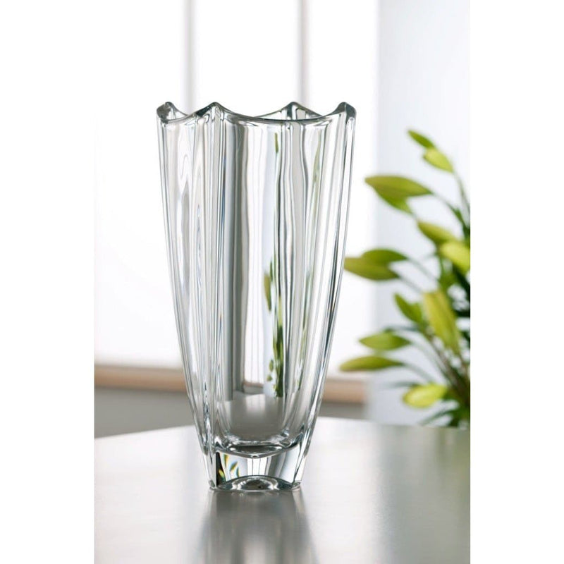 "Dune 12"" Square Vase - Galway Irish Crystal"