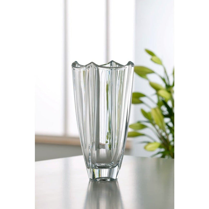 "Dune 10"" Square Vase - Galway Irish Crystal"