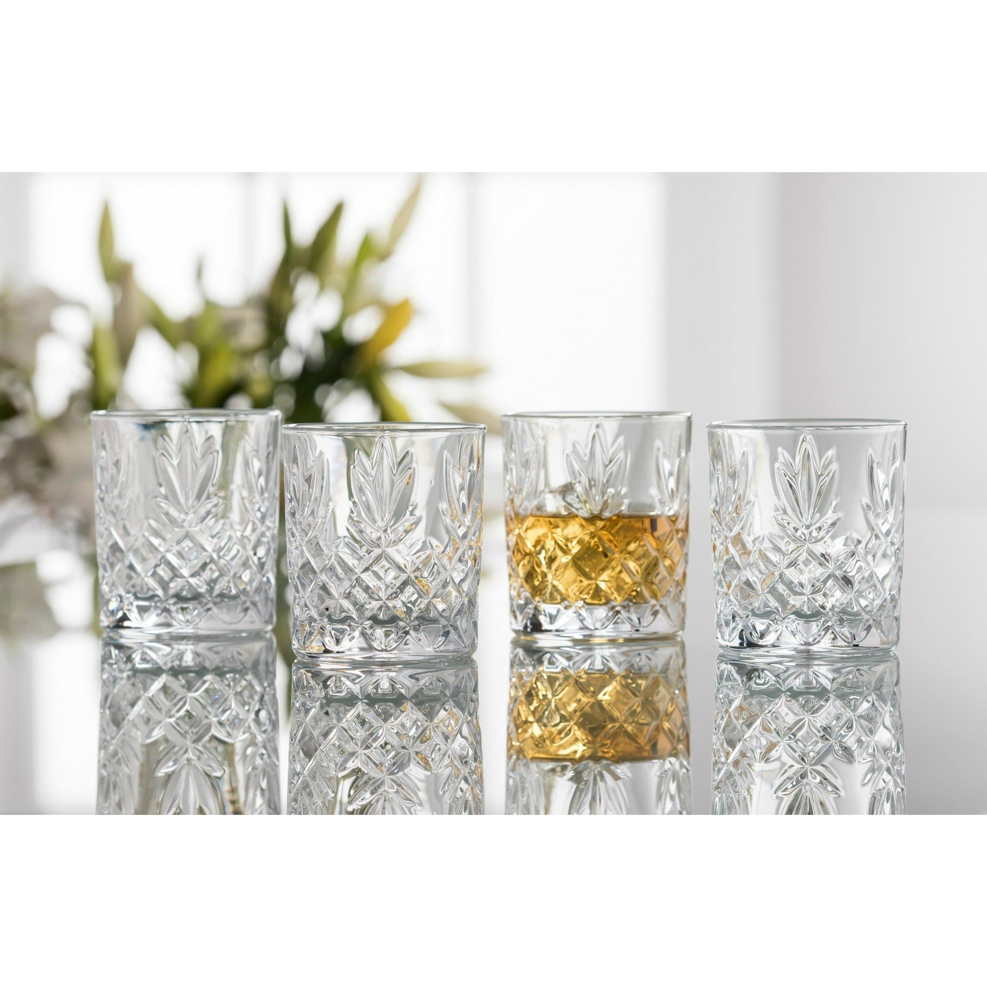 Renmore D.O.F/Whiskey (Set of 4) (G350064) - Galway Irish Crystal