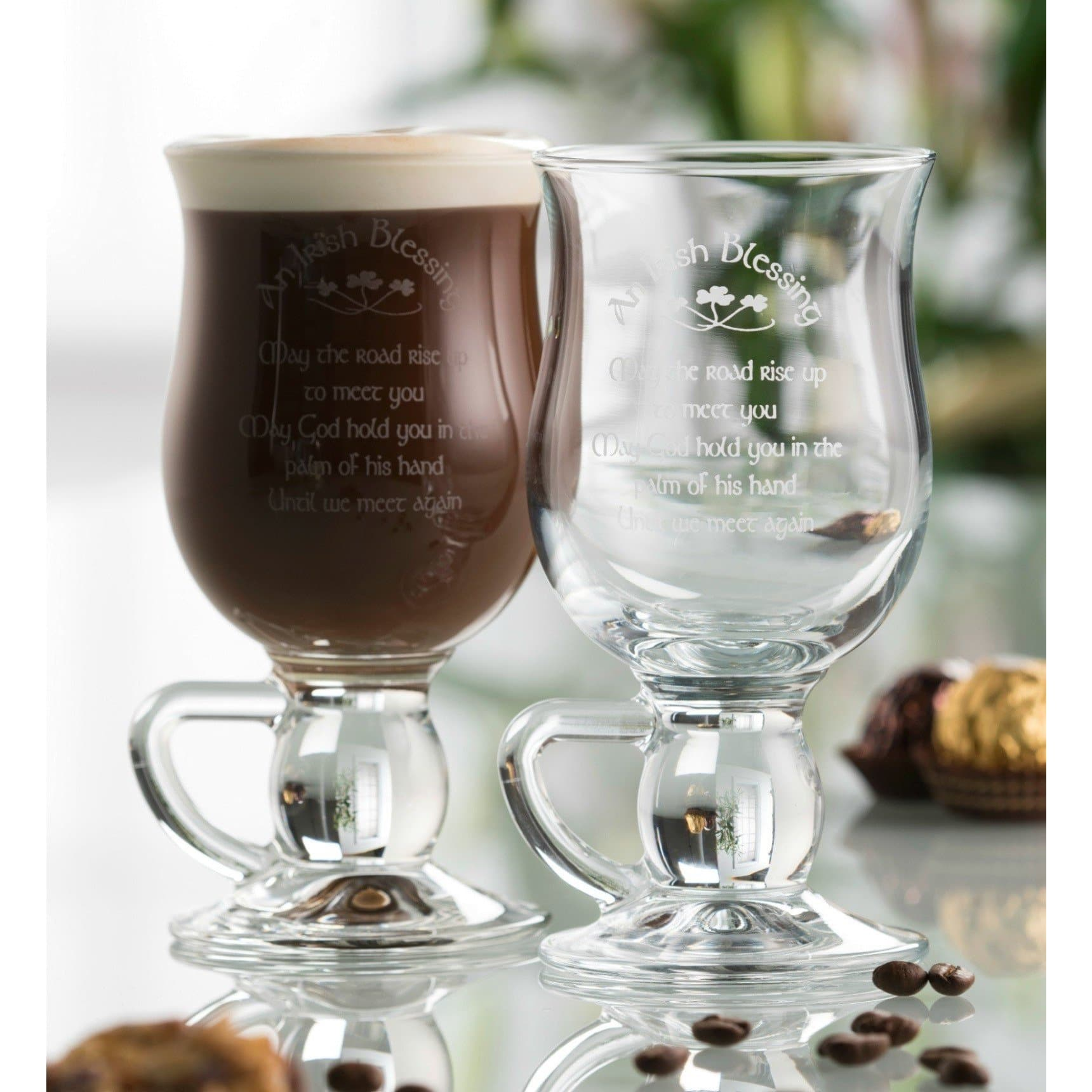 Irish Blessing Latte (Pair) (200502) - Galway Irish Crystal