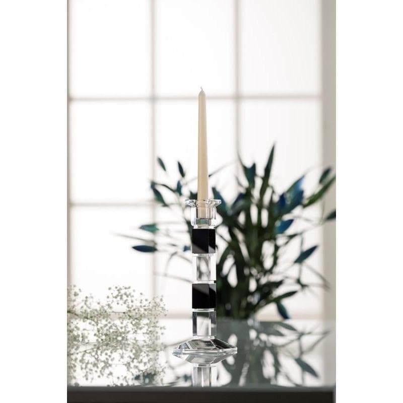 "Deco 10"" Square Candlestick (Excludes candle) (D041)"