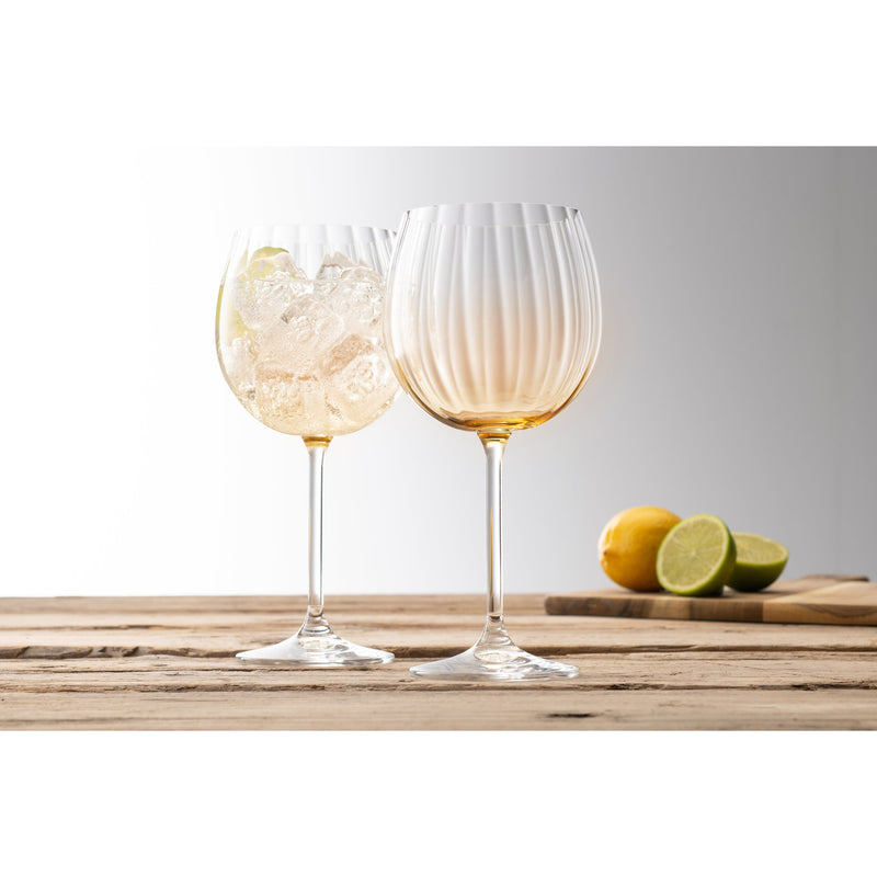 Erne Gin & Tonic Glass Pair Amber