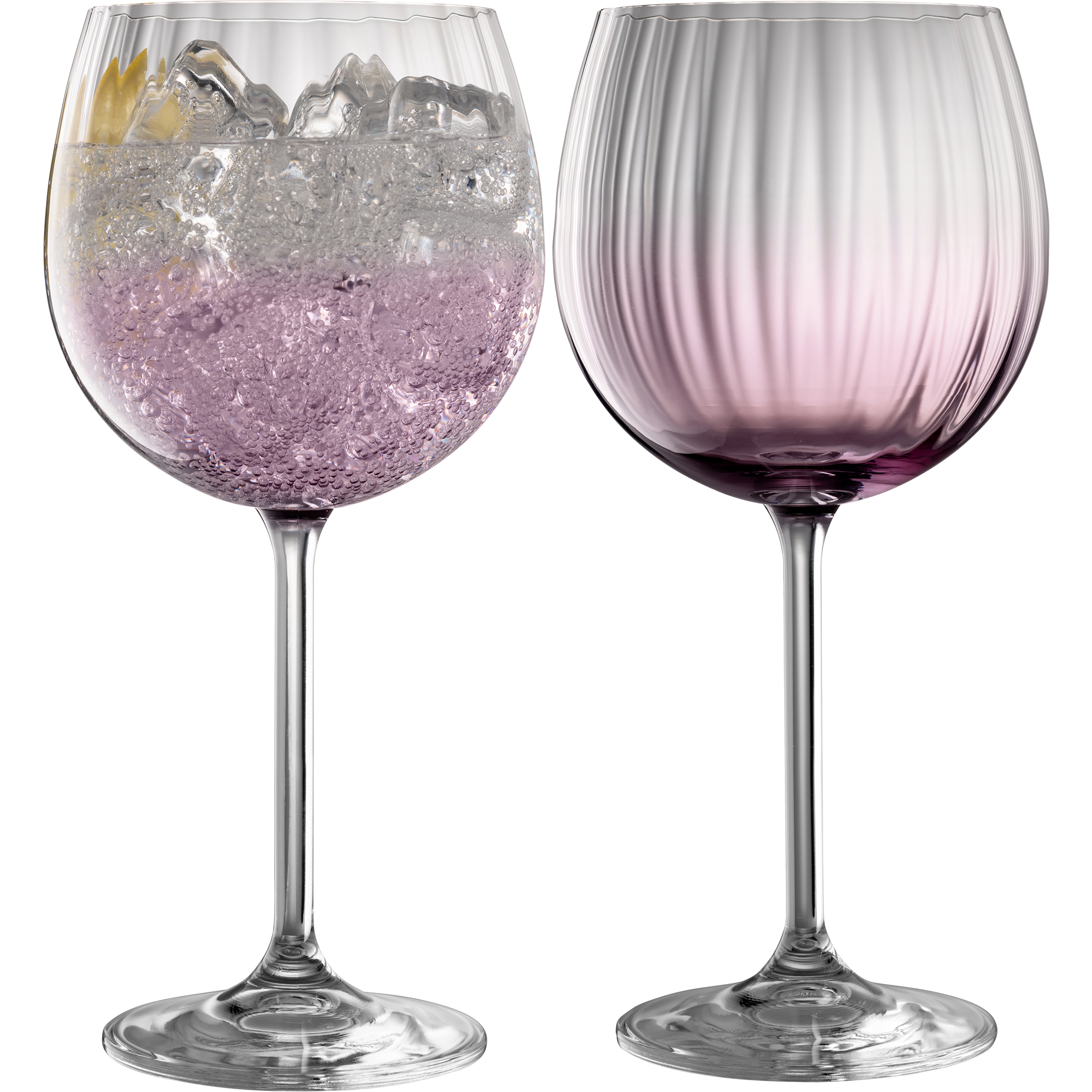 Erne Gin and Tonic Glass Pair Amethyst
