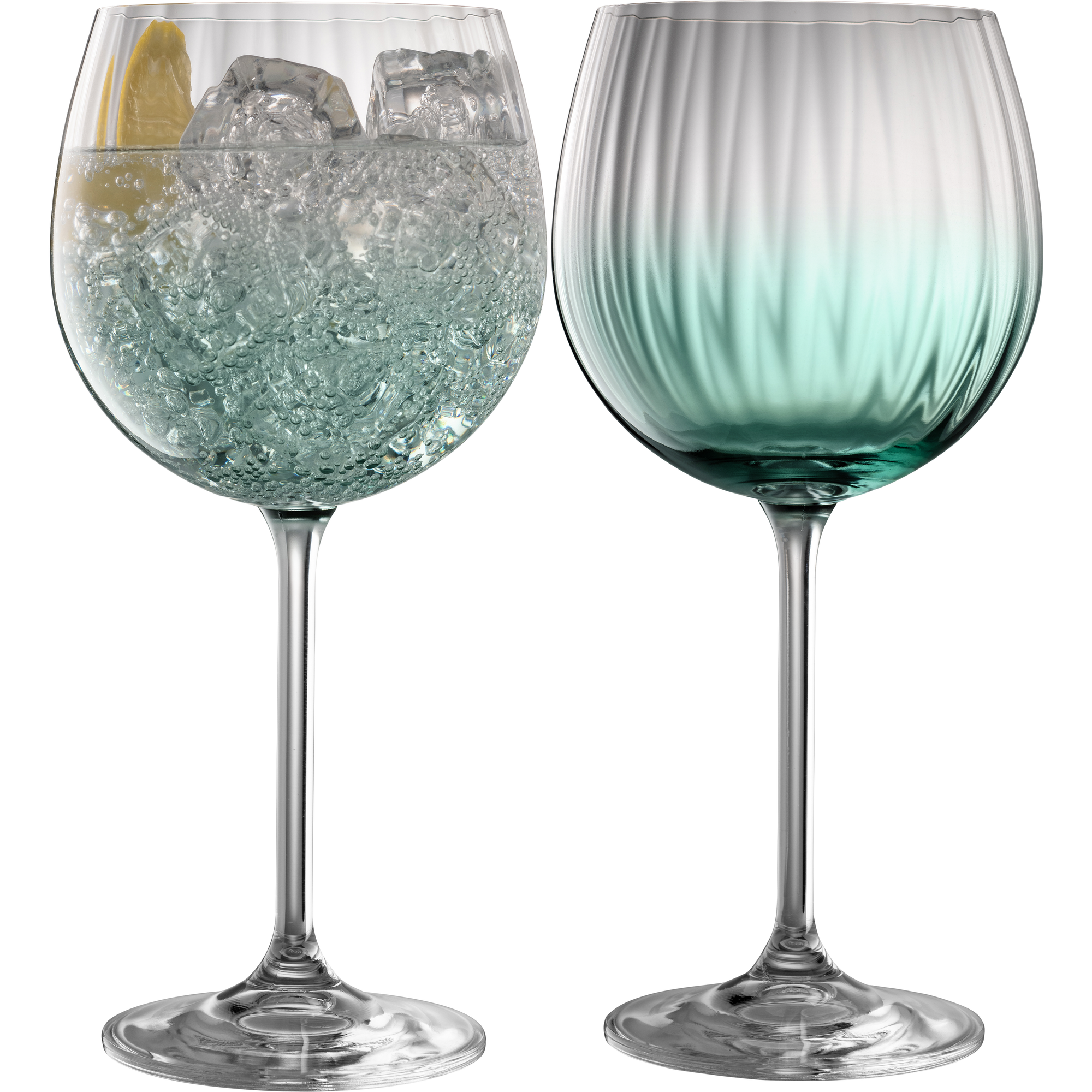 Erne Gin and Tonic Glass Pair Aqua