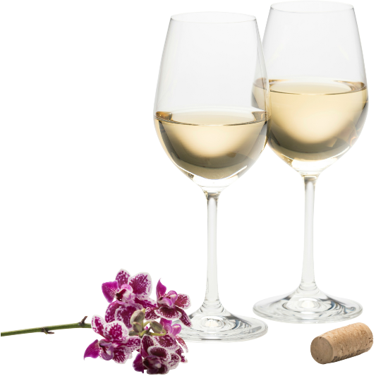Engraved Elegance White Wine Pair