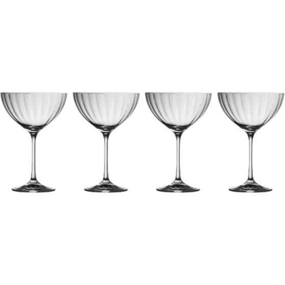 Erne Saucer Champagne (Set of 4) (G320074) - Galway Irish Crystal