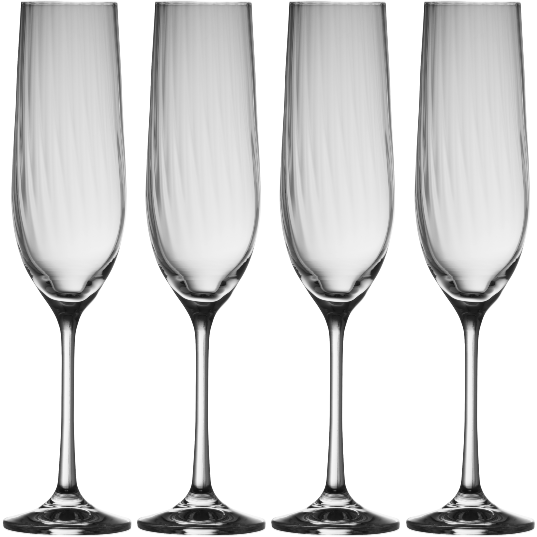 Erne Flute (Set of 4) (320034) - Galway Irish Crystal