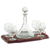 Longford Minature Brandy Decanter Tray Set (G25192) - Galway Irish Crystal