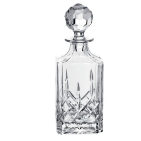 Engraved Longford Square Decanter (G25270E) - Galway Irish Crystal