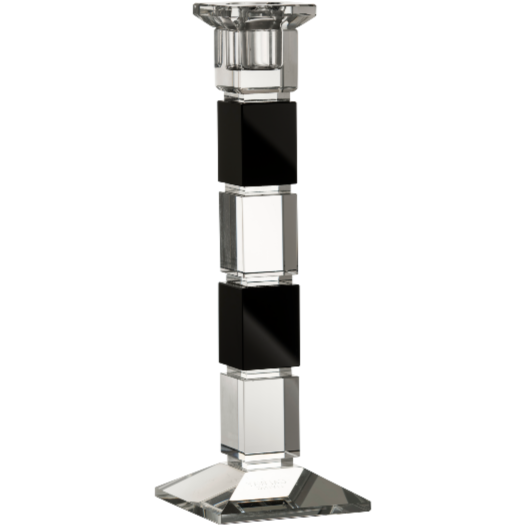 "Deco 10"" Square Candlestick (Excludes candle)"