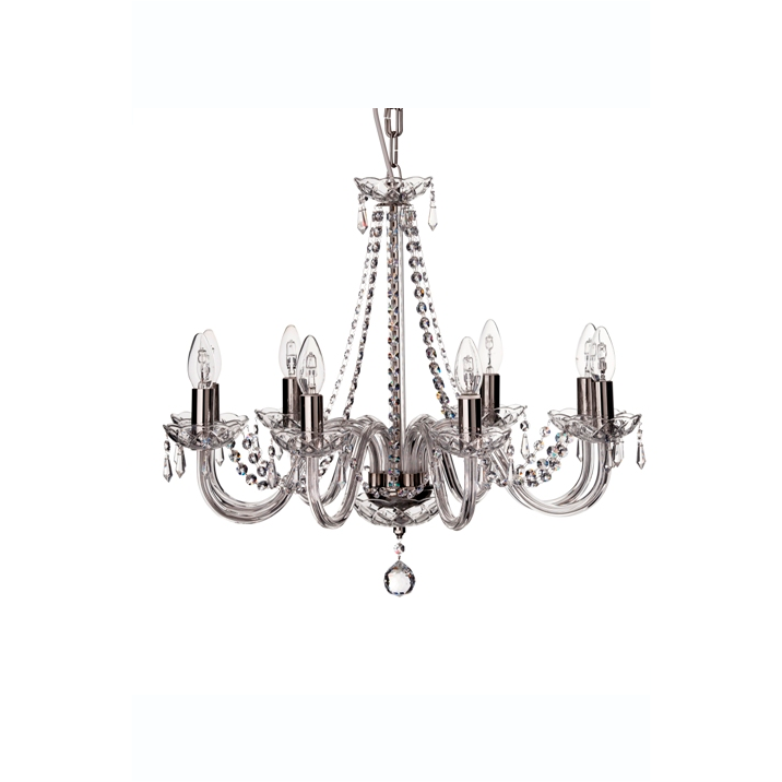 Cashel 8 Arm Chandelier (GCH08) - Galway Irish Crystal