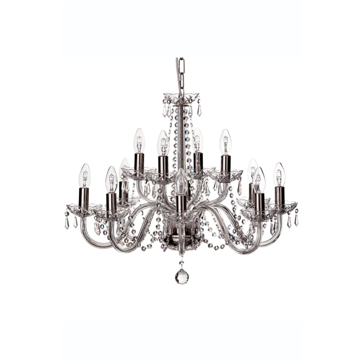 Cashel 12 Arm Chandelier - Galway Irish Crystal