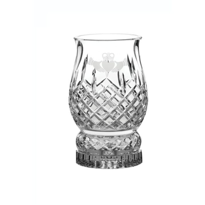 Claddagh Pillar Huriccane Lamp (includes candle) (G28055) - Galway Irish Crystal