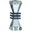 "*Out of Stock* Deco Small Candlestick 7"" (D080) DISCONTINUED - Galway Irish Crystal"