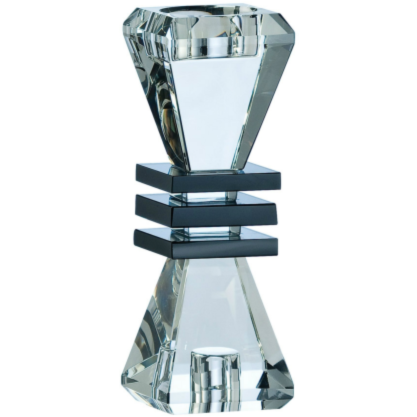 "Deco 7"" Candlestick - Galway Irish Crystal"